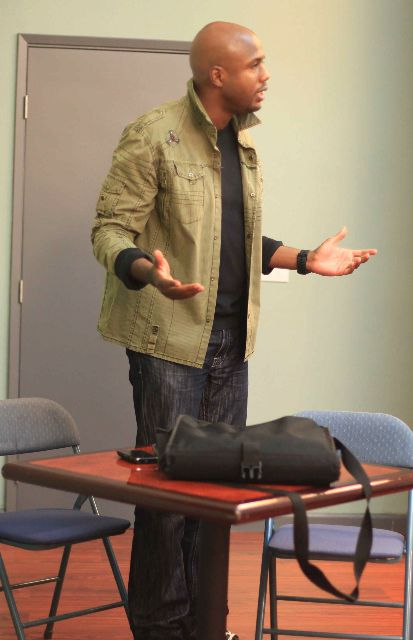 Student at elizabeth meznik Actors studio acting class