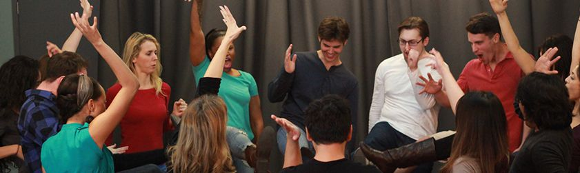 beginner actors in class at elizabeth mestnik acting studio