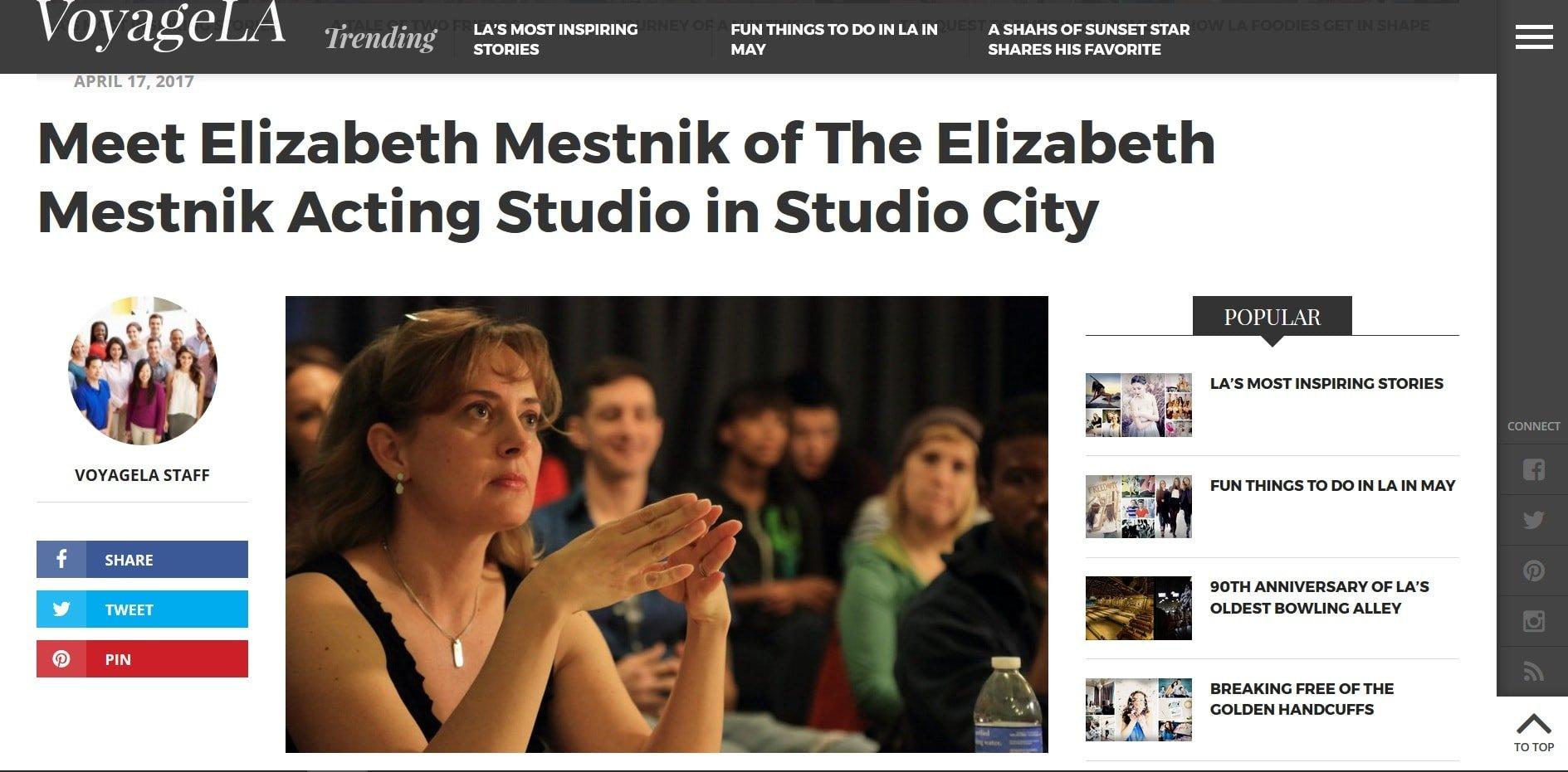 Voyage LA interview with Elizabeth Mestnik of EMAS LA