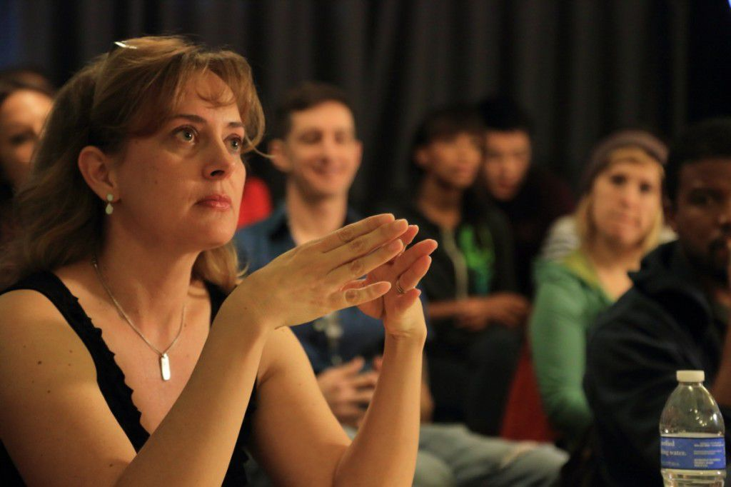 Elizabeth Mestnik teaching acting class