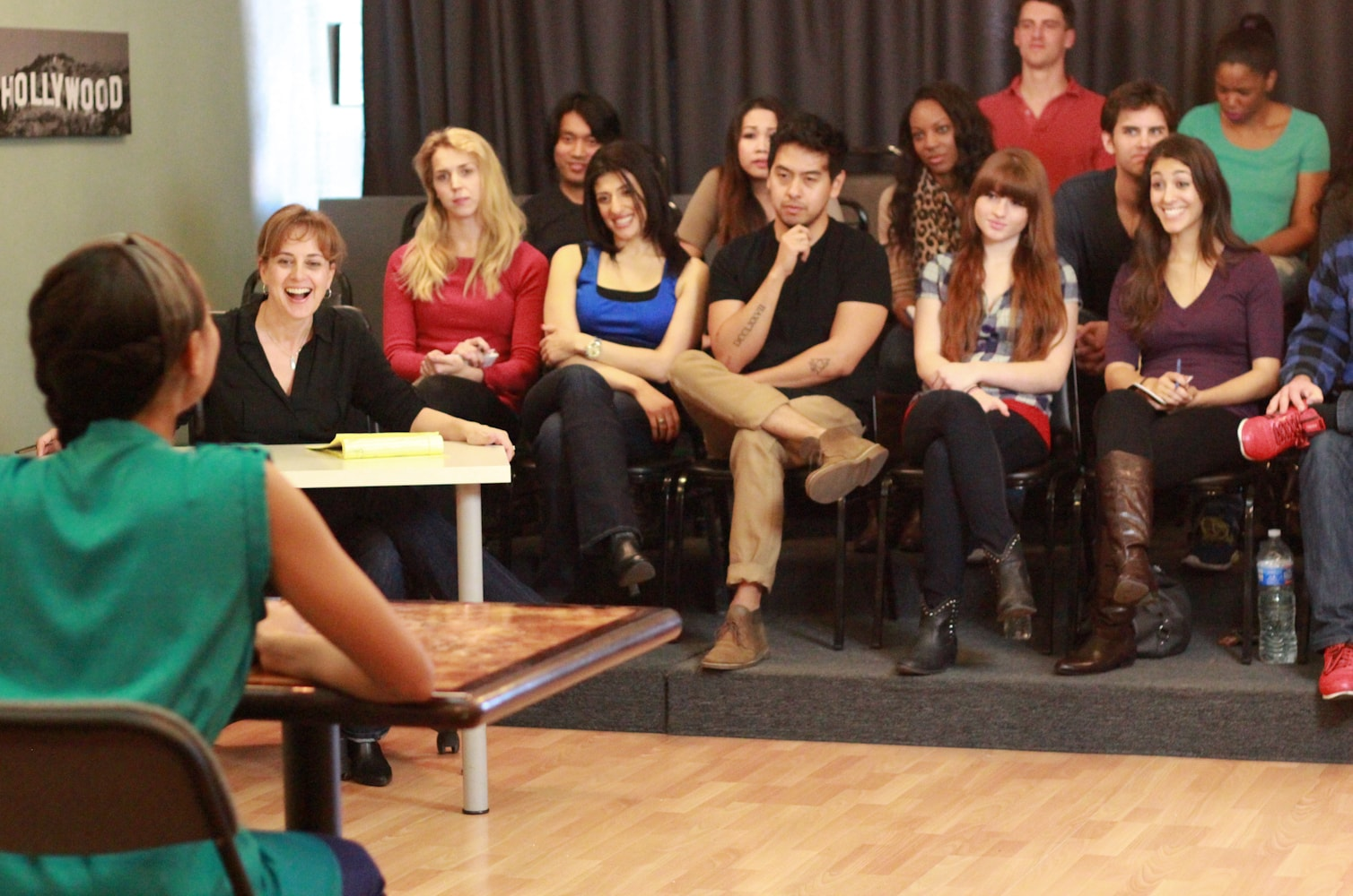 acting class presentation - students and acting coach