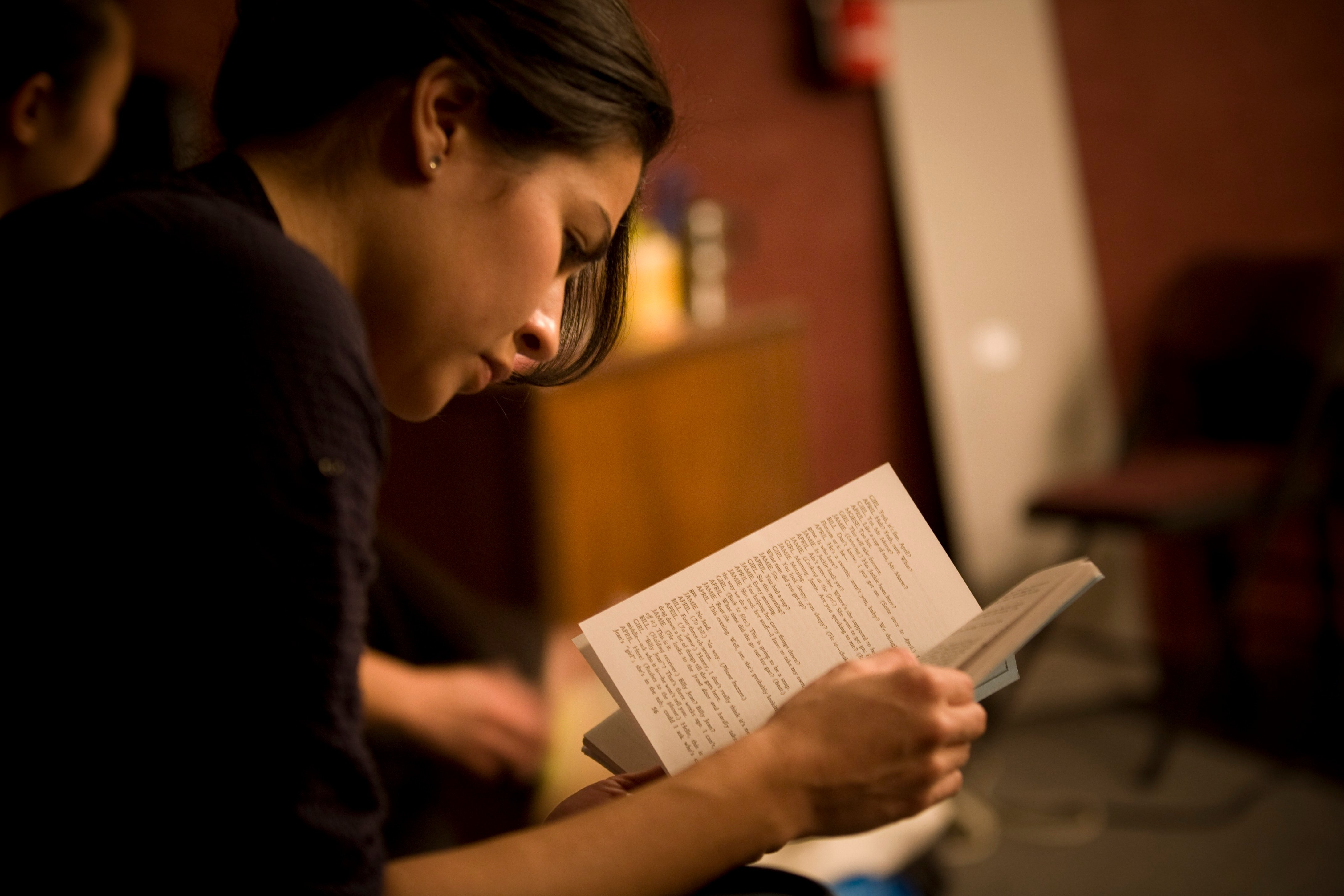 Vanessa studying