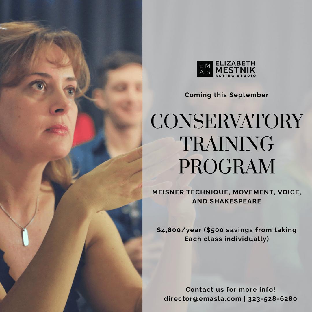 conservatory training program banner